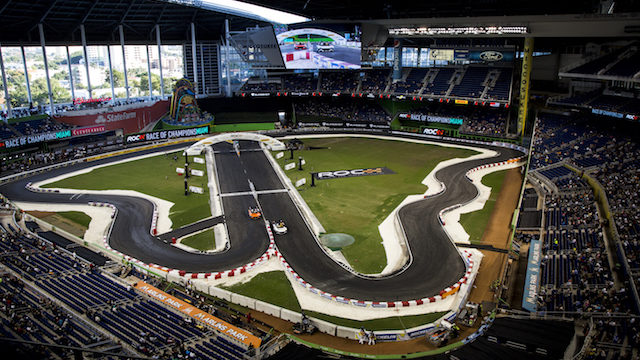 Jenson Button (GBR) Race of Champions on Saturday 21 January 2017 at Marlins Park, Miami, Florida, USA