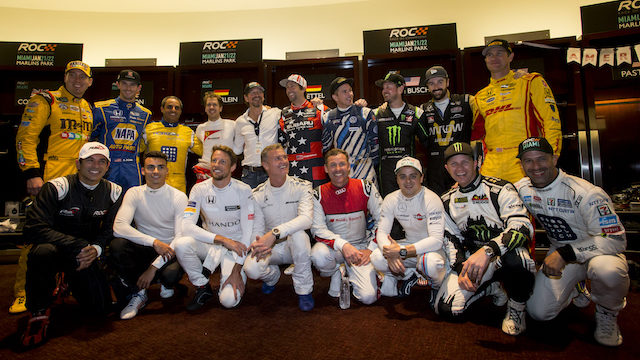 The drivers backstage during the Race of Champions on Saturday 21 January 2017 at Marlins Park, Miami, Florida, USA
