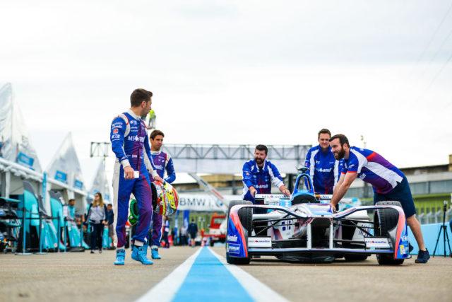 | Driver: Antonio Felix da Costa| Team: MS Amlin Andretti| Number: 28| Car: ATEC-02|| Driver: Robin Frijns| Team: MS Amlin Andretti| Number: 27| Car: ATEC-02|| Photographer: Nat Twiss| Event: Berlin ePrix| Circuit: Tempelhof| Location: Berlin| Series: FIA Formula E| Season: 2016-2017| Country: DE|