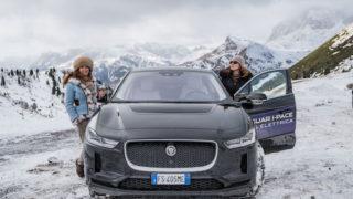 Con la Jaguar I-Pace, 100% elettrica, sui quattro passi delle Dolomiti