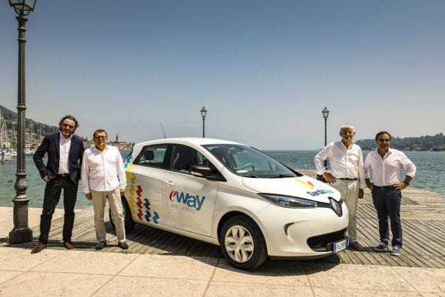 Renault e E-Way insieme per carsharing con Zoe su Lago Garda