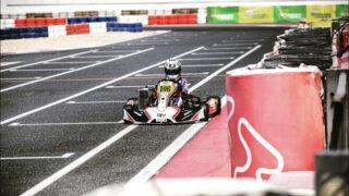 Incontriamo Sofia Necchi: giovane pilota al volante di un kart con telaio Charles Leclerc negli Emirati Arabi