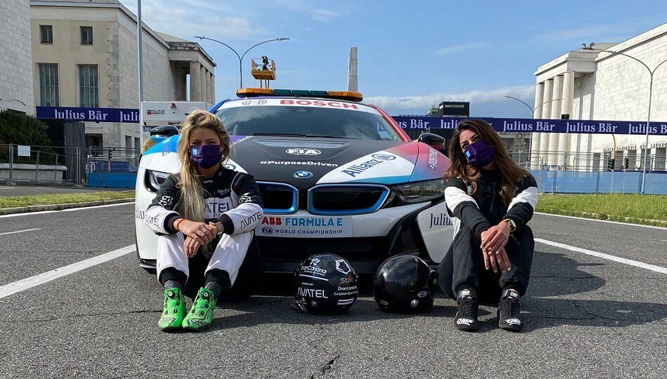 E-Prix di Roma: Vicky Piria e Christine Giampaoli Zonca sulla safety car
